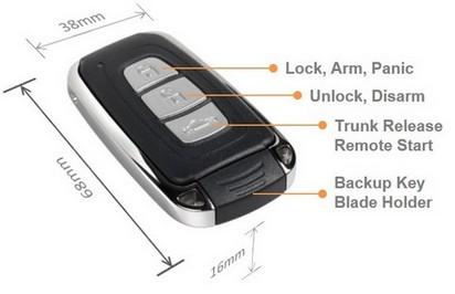 Advanced Keys Ak105 Pke Remote Start Push Button Start No